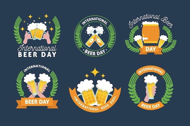 Tema delle etichette della giornata internazionale della birra