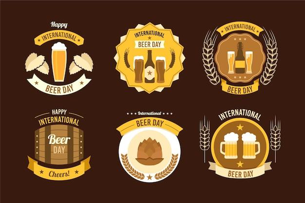 Etichette per la giornata internazionale della birra
