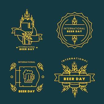 International beer day labels