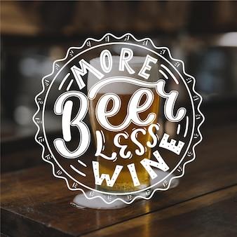 Международный день пива надписи концепция