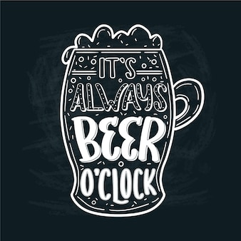 International beer day lettering concept
