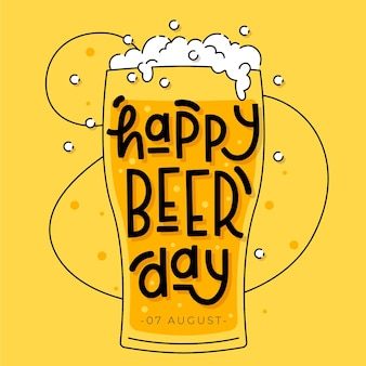 International beer day lettering style