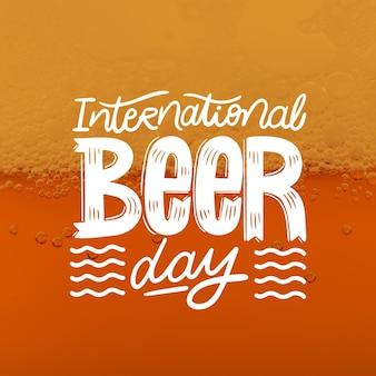 写真付き国際ビールデーレタリング