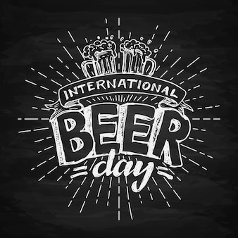 国際ビールデーレタリング