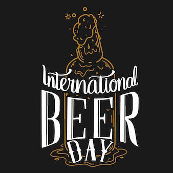 International beer day lettering