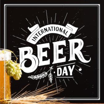 Lettering giornata internazionale della birra