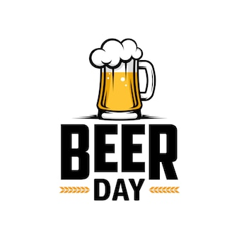International beer day. poster, flyer, banner.