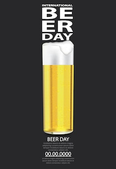 International beer day template