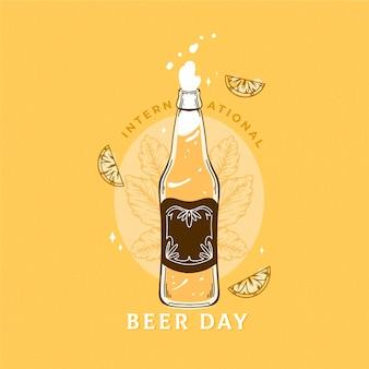 Международный день пива с пивом и цитрусовыми