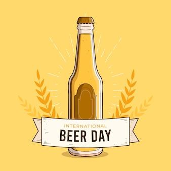 Giornata internazionale della birra con bottiglia