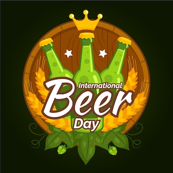 International beer day with bottles
