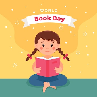 International book day child reading