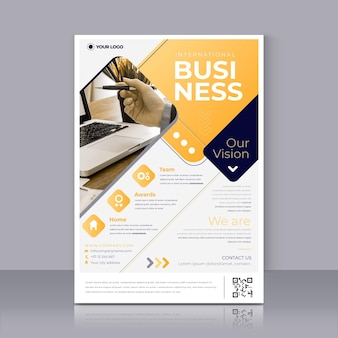 International business flyer print template