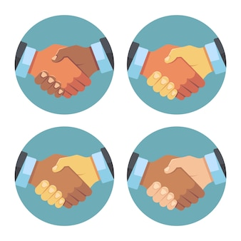 International business handshake set