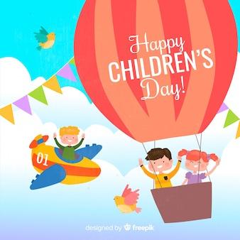 International children day illustration message