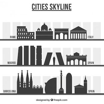 国際都市のスカイライン 無料ベクター