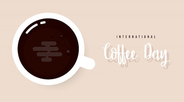 International coffee day background illustration vector