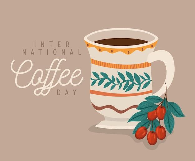 International coffee day card