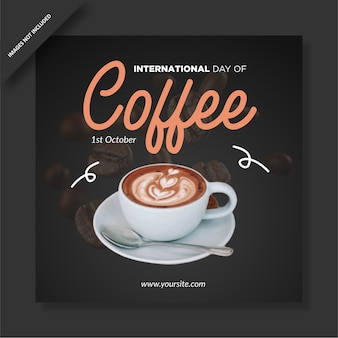 International coffee day instagram post