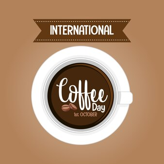 국제 커피 데이 편지 배너
