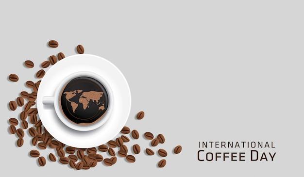 Международный день кофе векторная иллюстрация
