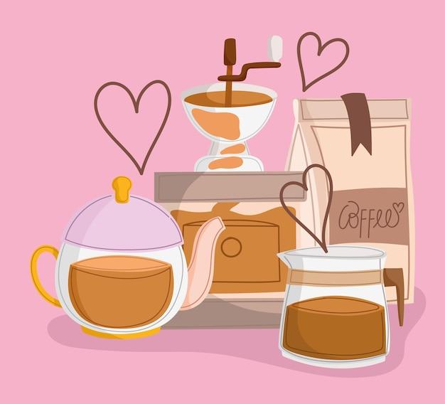 International coffee day Premium Vector