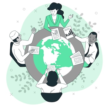 국제 협력 개념 그림