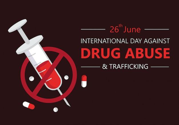 Международный день против наркомании Premium векторы
