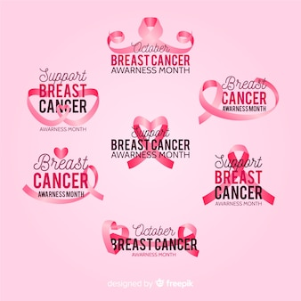 International day of breast cancer awareness badge collection