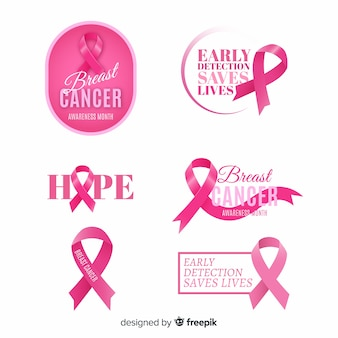 International day of breast cancer awareness label collection