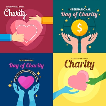 International day of charity design vector illustration
