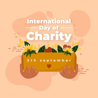 International day of charity hand drawn background