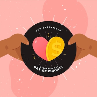 International day of charity holding love