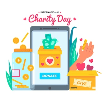 International day of charity illustration