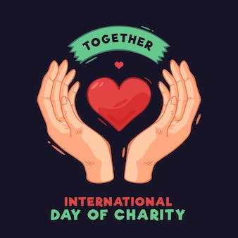 International day of charity with heart and hands