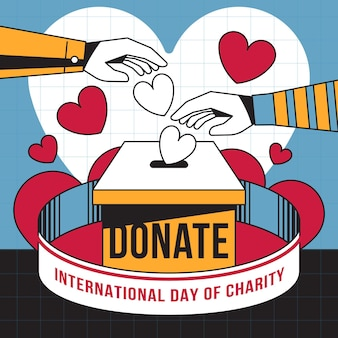 International day of charity with hearts