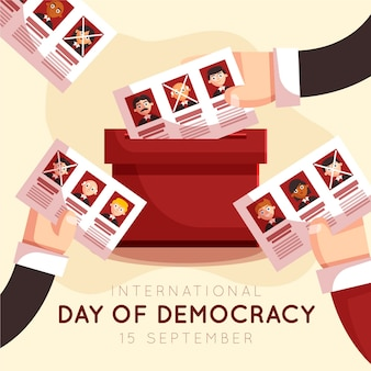 International day of democracy ballot paper