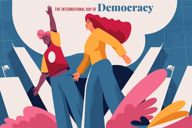 International day of democracy concept