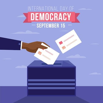 International day of democracy event concept