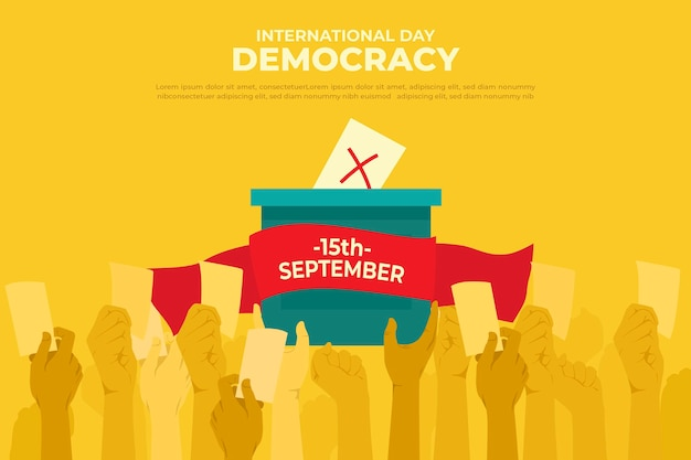 International day of democracy event