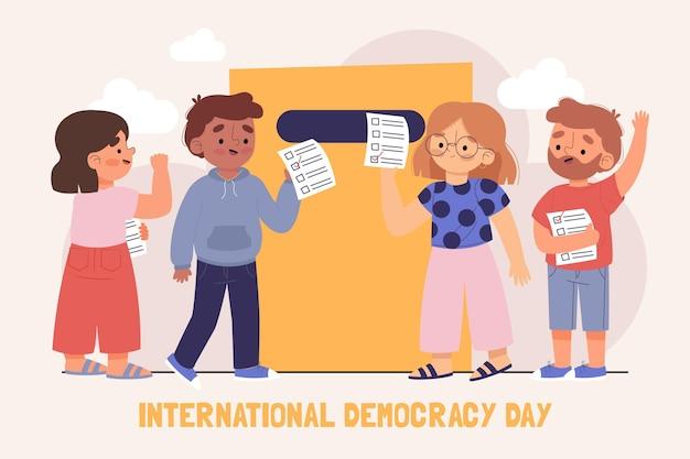 International day of democracy illustration