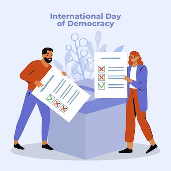 International day of democracy with people