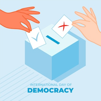 International day of democracy with voting