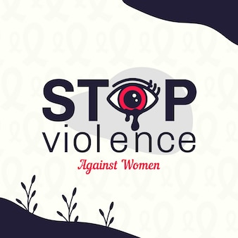 International day for the elimination of violence against women background with crying eye