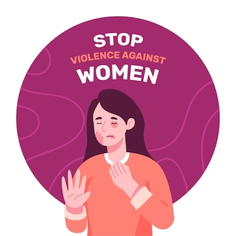 International day for the elimination of violence against women background with female