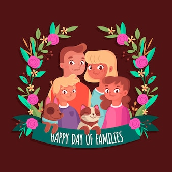 International day of families illustration style