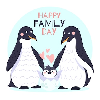 International day of families with penguins