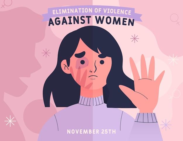 Международный день борьбы за ликвидацию насилия в отношении женщин Premium векторы