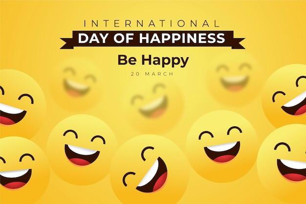 International day of happiness illustration