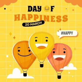 International day of happiness illustration